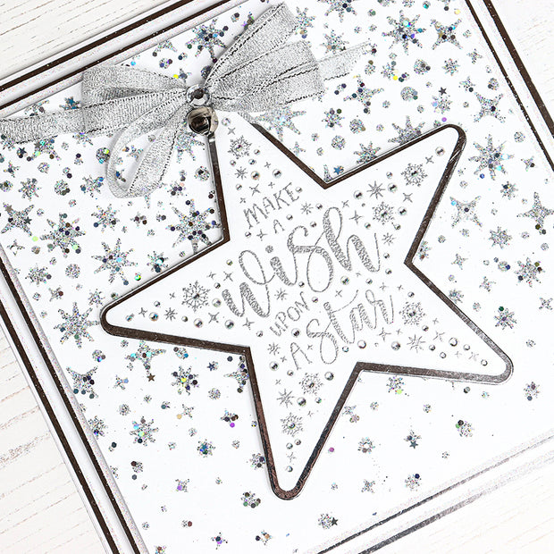 Chloes Creative Cards Stencil (8 x 8) - Twinkling Starfall