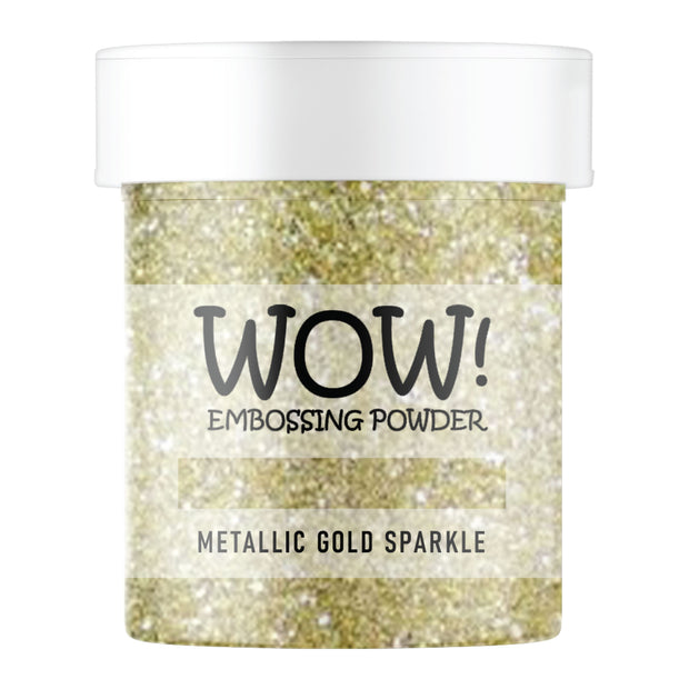 Stamps by Chloe WOW Embossing Glitter Metallic Gold Sparkle Large Jar