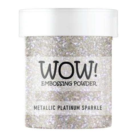 WOW Embossing Glitter Metallic Platinum Sparkle