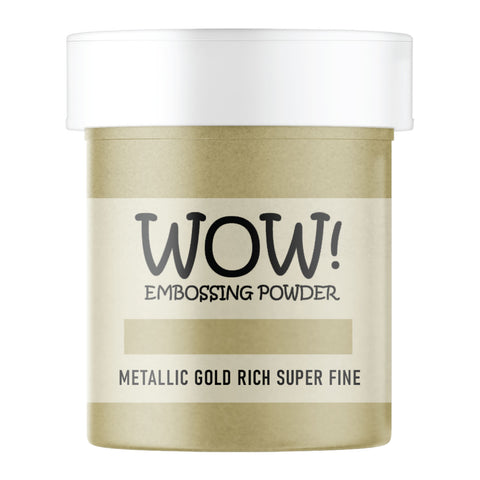 WOW Embossing Powder Metallic Gold Rich Super Fine Large Jar