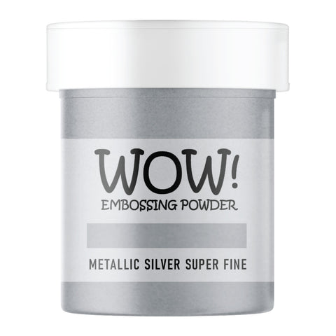 WOW Embossing Powder Metallic Silver Superfine Large Jar