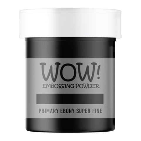 WOW Embossing Powder Primary Ebony Superfine Large Jar