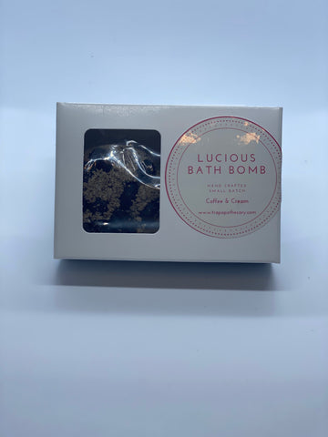 Lucious Foaming Bath Bomb: Coffee & Cream