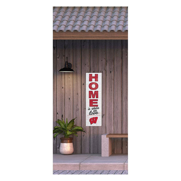 KH Sports Fan - 10x35 Sign HOME Life Wisconsin Badgers
