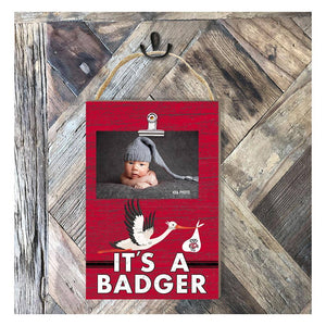 KH Sports Fan - Hanging Clip Photo Frame It's A Wisconsin Badgers