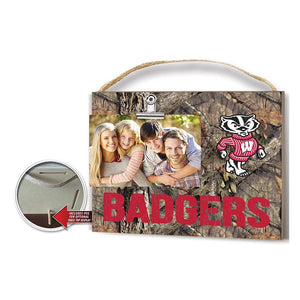 KH Sports Fan - Mossy Oak Clip Photo Frame Wisconsin Badgers