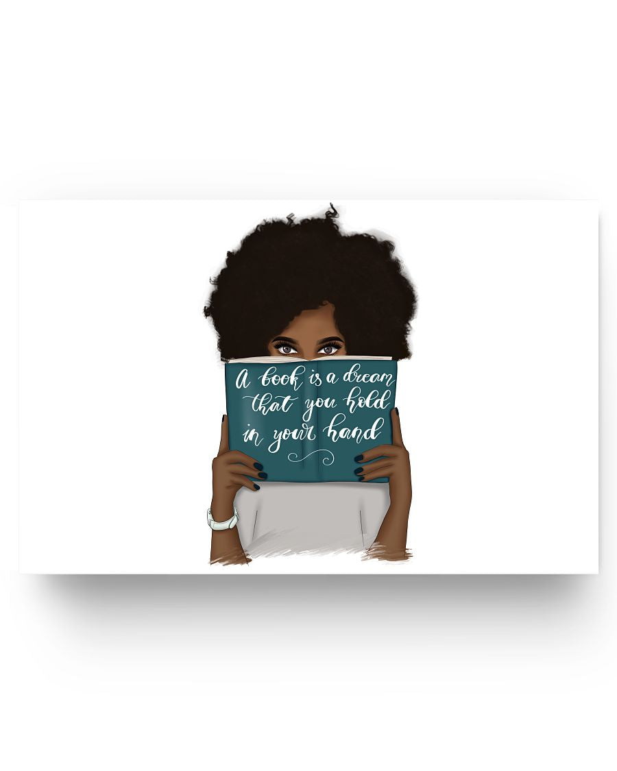 17x11 Poster - A book is a dream that you hold in your hand