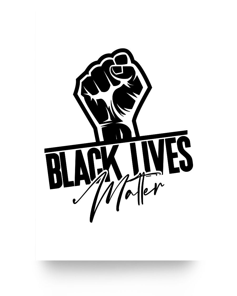 16x24 Poster - Black lives matter fist