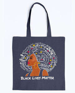 Canvas Tote - Black lives matter afro