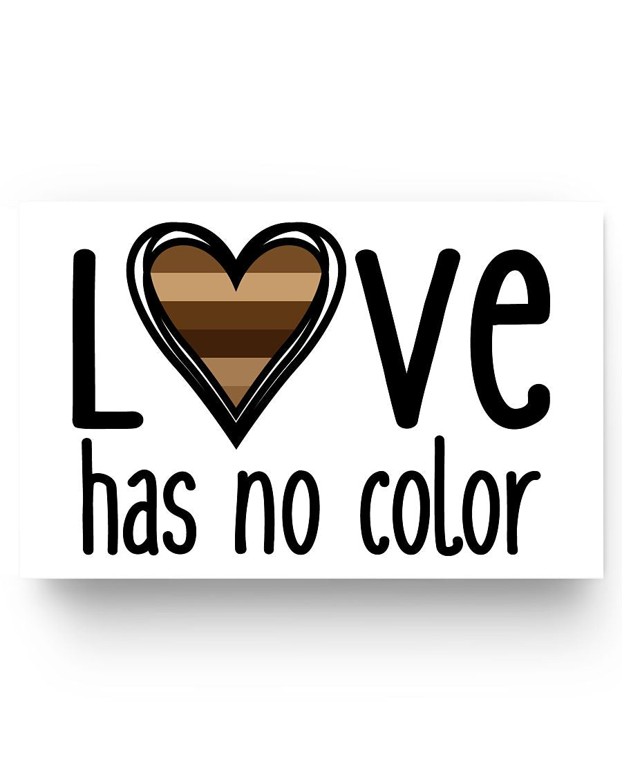 17x11 Poster - Love has no color