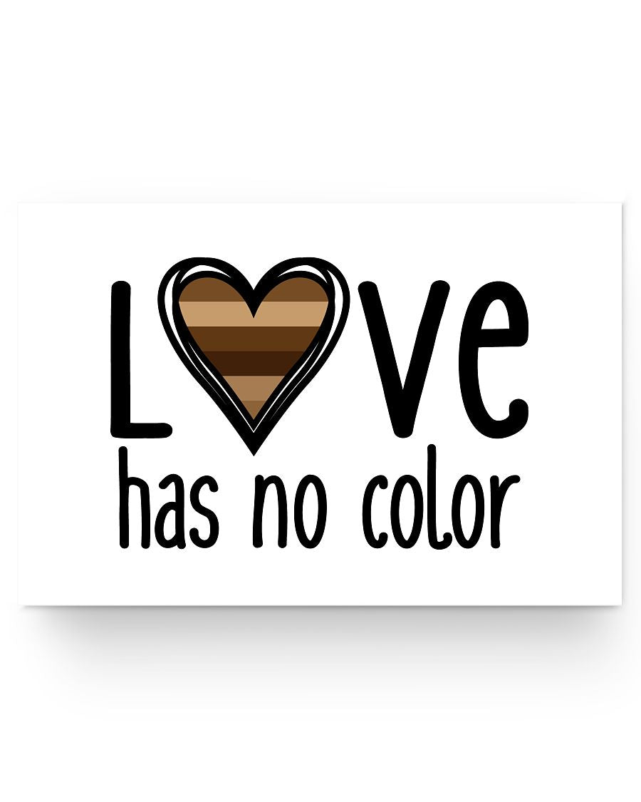 24x16 Poster - Love has no color
