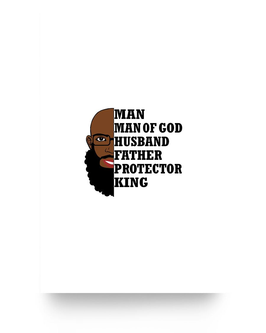 24x36 Poster - Man, Man of God, Husband, Father, Protector, King