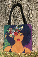 BELIEVE, BLOSSOM & BECOME WOVEN TOTE BAG