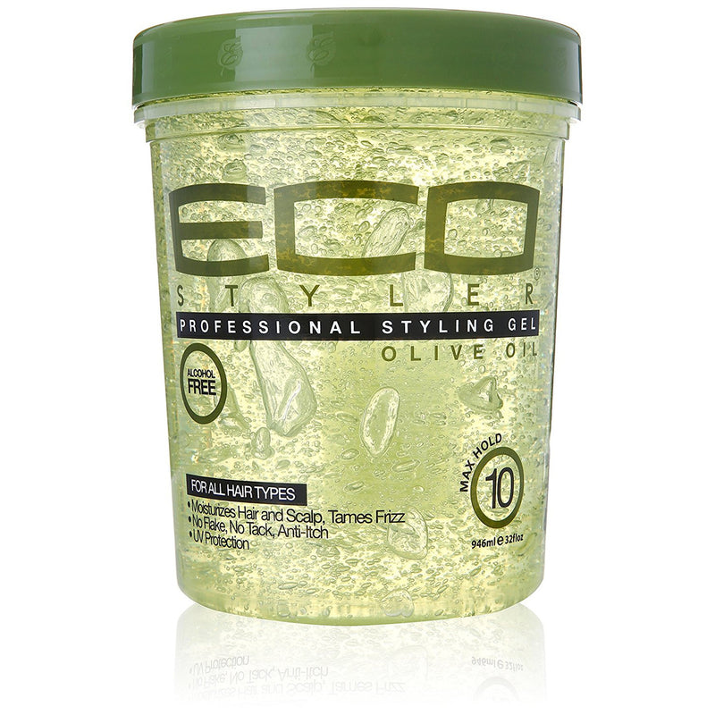 Eco Style Professional  Styling Gel, Olive Oil, 32 Oz