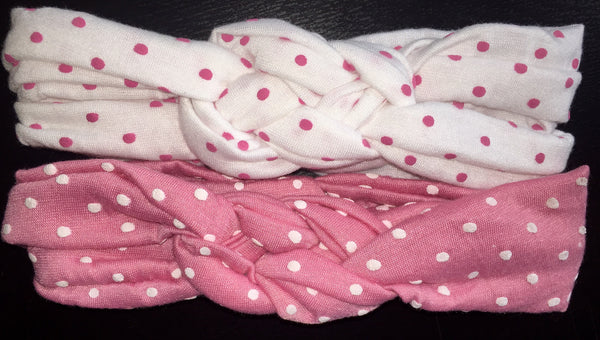 Baby/Toddler Polka Dot Turban Headbands (Set of 2)