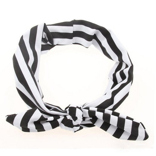 Baby/Toddler Striped Headbands with Turban Knot (Set of 3 different colors)