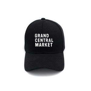 Stacked Market Logo Polo Cap - Black
