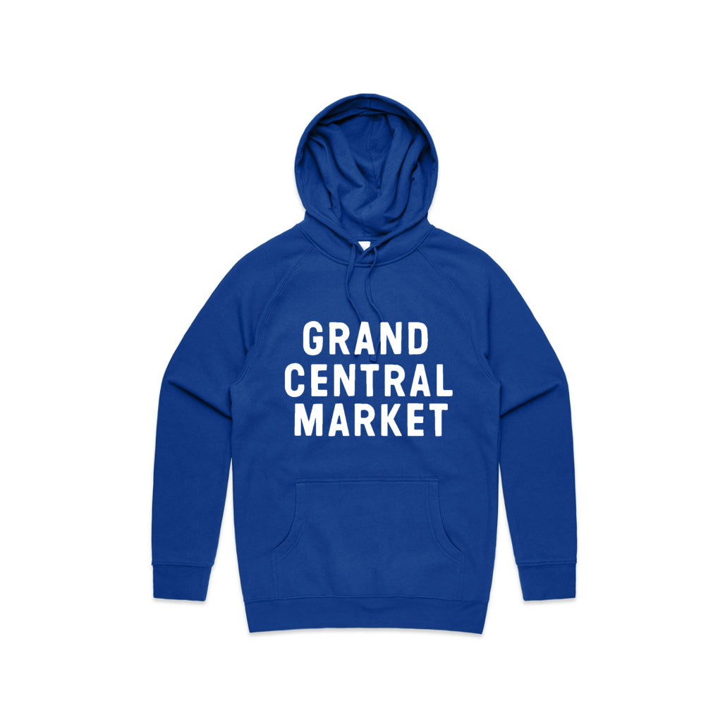 Stacked Market Logo Hoodie - Blue
