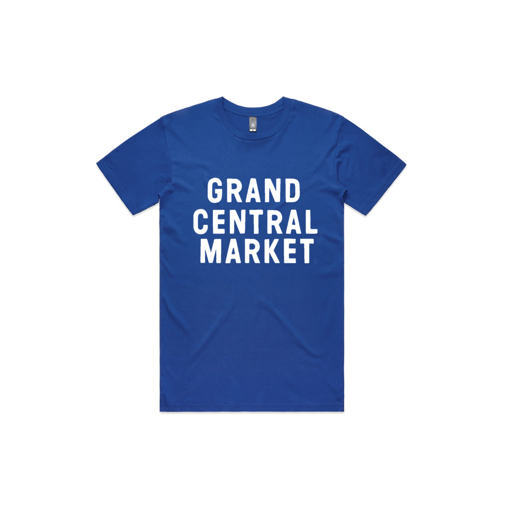 Stacked Market Logo Tee - Blue (Adult)