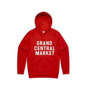 Stacked Market Logo Hoodie - Red