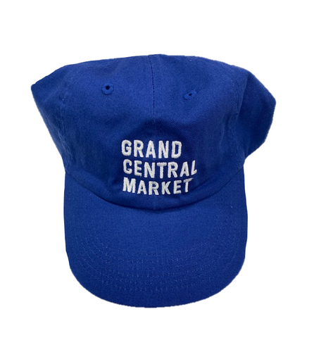 Stacked Market Logo Polo Cap - Blue