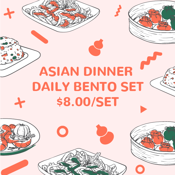 Asian Dinner Festive Daily Bento Set