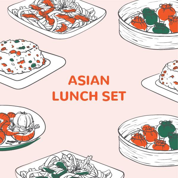Asian Lunch Bento Set 13 August