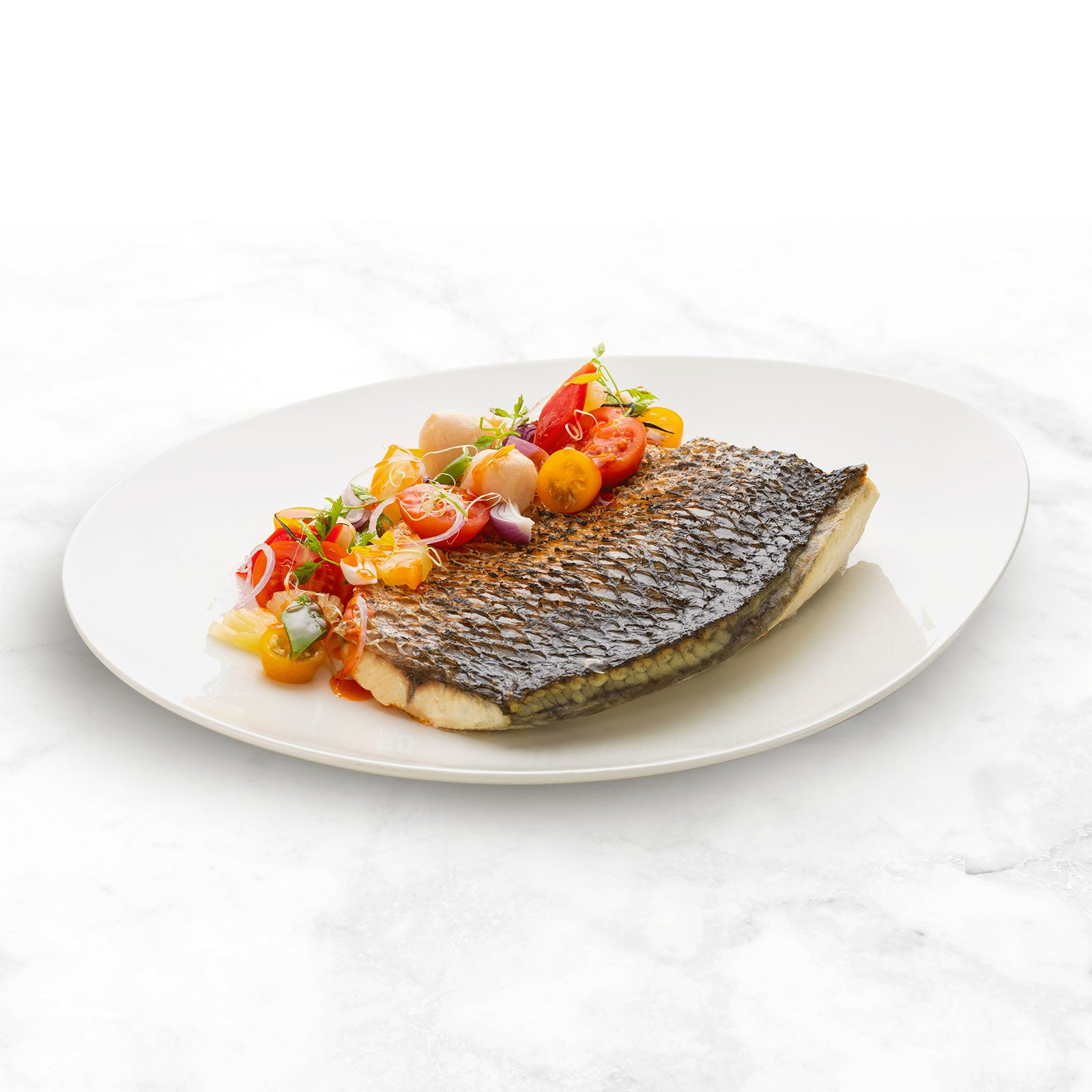 Oven-baked Barramundi in Lychee Sweet and Sour Sauce