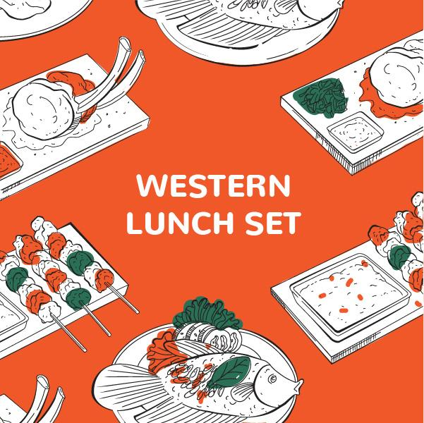 Western Lunch Bento Set 01 March