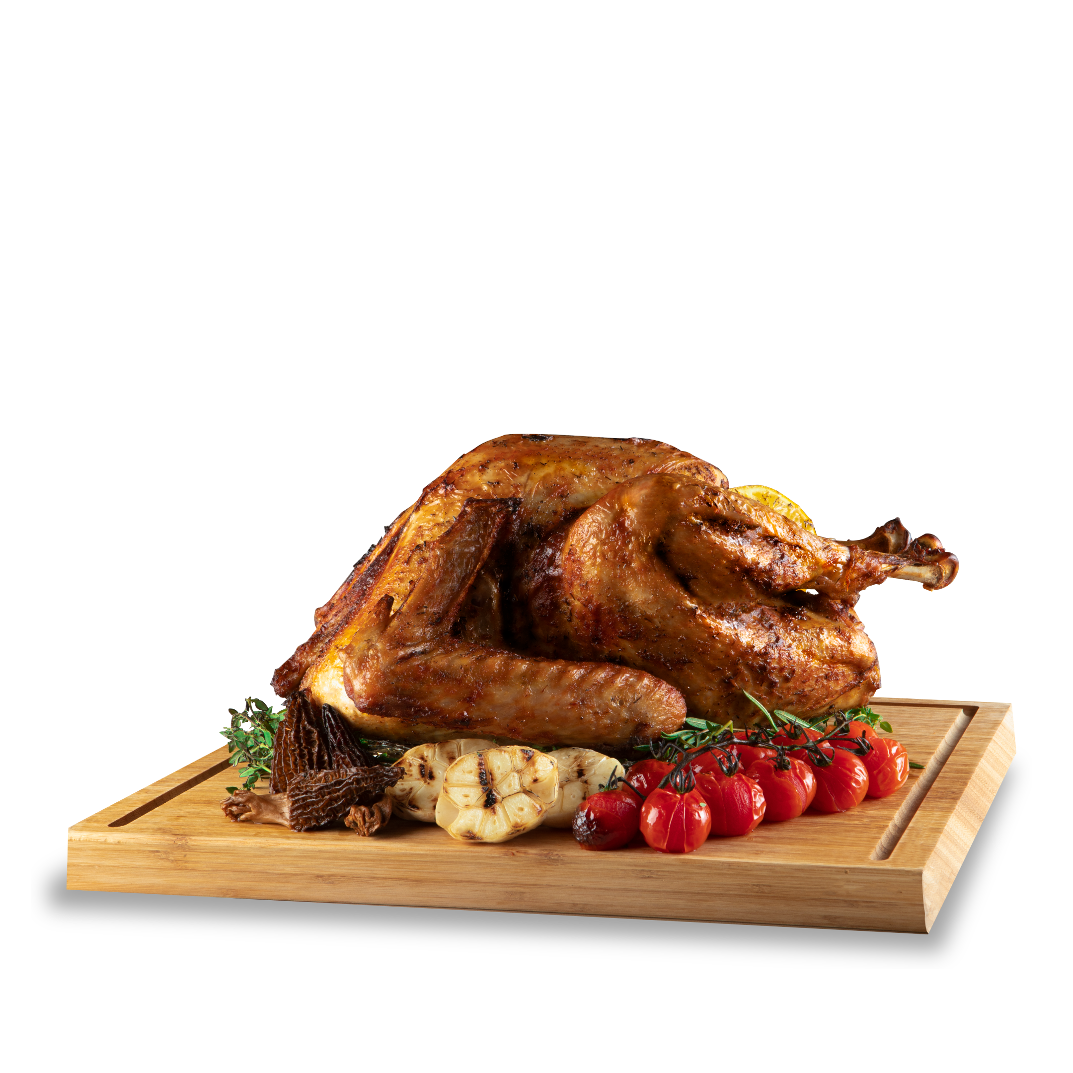 Traditional Roasted Whole Turkey with Truffle Chestnut Stuffing