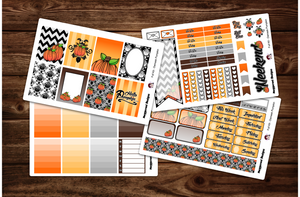 Damask Pumpkin Full Weekly Kit & Individual Sheets