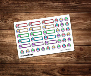 Birthday Cupcake Icon Stickers