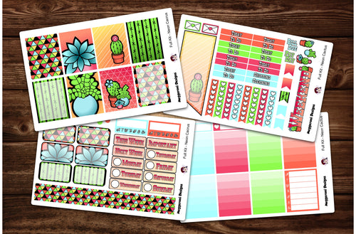 Neon Cactus Full Weekly Kit & Individual Sheets