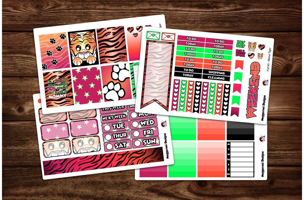 Mama Tiger Full Weekly Kit & Individual Sheets