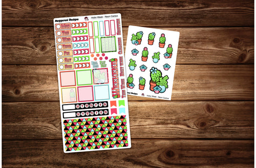 Neon Cactus / Hobonichi Weekly / Planner Sticker Kit