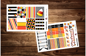 Candy Corn Halloween Full Weekly Kit & Individual Sheets