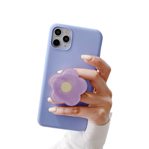 Universal Foldable Flower Phone Holder For iPhone Samsung Huawei Xiaomi OPPO VIVO Cute Glossy Flower Print Purple Green Pink Orange Yellow Folding Ring popsocket