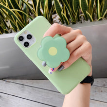 Load image into Gallery viewer, Universal Foldable Flower Phone Holder For iPhone Samsung Huawei Xiaomi OPPO VIVO Cute Glossy Flower Print Purple Green Pink Orange Yellow Folding Ring popsocket