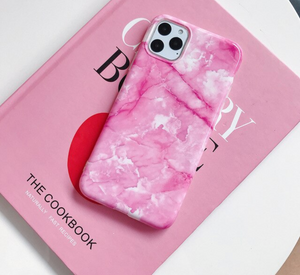 Hot Pink Marble iPhone Case