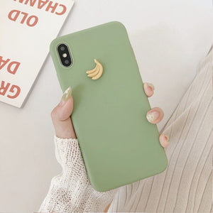 3D Candy Color Avocado iPhone Mobile Case