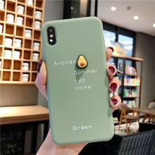 Load image into Gallery viewer, 3D Candy Color Avocado iPhone Mobile Case