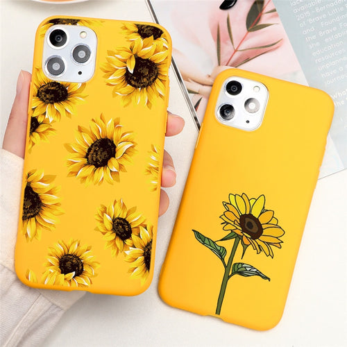 Sunflower iPhone cases