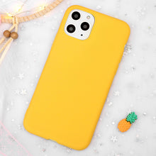 Load image into Gallery viewer, Plain yellow iPhone Case