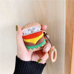 French Fries Hamburger AirPods Case