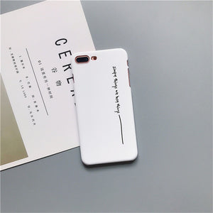 Hard Letter iPhone Case