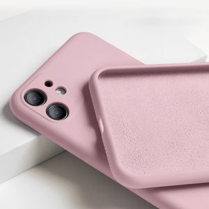 Baby Skin Hand Feel iPhone 12 Case - Baby Pink