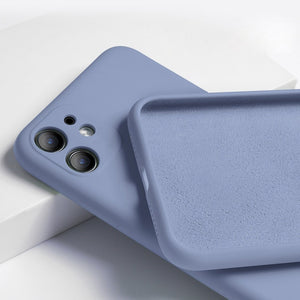 Baby Skin Hand Feel iPhone 12 Case - Light Blue