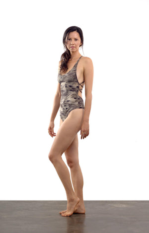 Tangled Kiss Bodysuit - Cinnamon Smoke