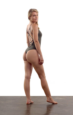 Cloudless Bodysuit - Olive Ash - Isabelle Moon