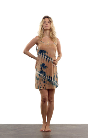 Windflower Dress - Indigo Sunrise